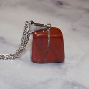 """Other - Beautiful Natural Tumbled Stone Necklace Long 28"""""""